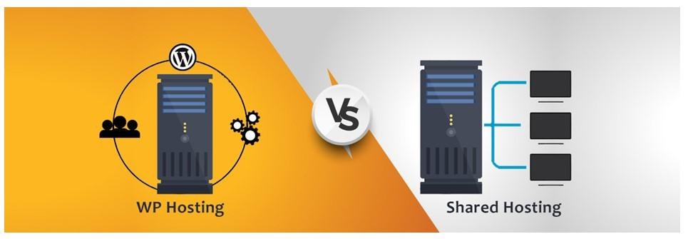 wp hosting vs shared hosting